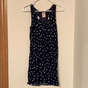 Blue polka dot dress